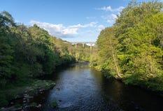 Мост-водовод Pontcysyllte около Llangollen в Уэльсе весной Стоковые Фото