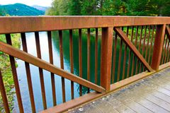 Мост вод осени стоковое фото rf