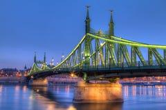 Мост вольности в Венгрии Стоковое Изображение