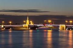 Мост дворца, ST petersburg Россия Стоковое Фото