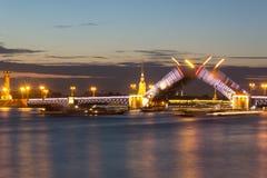 Мост дворца, ST petersburg Россия Стоковые Фото
