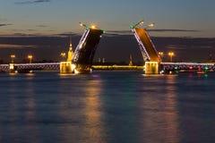 Мост дворца, ST petersburg Россия Стоковое Изображение RF