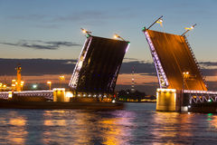 Мост дворца, ST petersburg Россия Стоковое Изображение