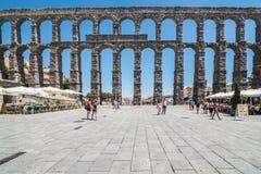Мост-водовод Сеговии, Испании, España Стоковые Фотографии RF