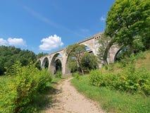Мост-водоводы Stanczyki железнодорожные Стоковые Изображения RF