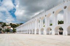 Мост-водовод Carioca в Рио-де-Жанейро Стоковое Фото