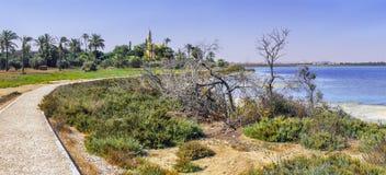 Мост-водовод Kamares Ларнака Кипр Стоковая Фотография RF