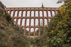 Мост-водовод Puente del Aguila, Nerja, Испания стоковые фотографии rf