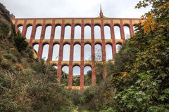 Мост-водовод Puente del Aguila, Nerja, Испания стоковое изображение