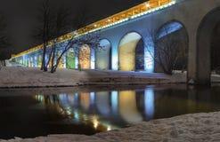 Мост-водовод Rostokino, Москва Стоковая Фотография RF