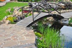 Мост воды сада стоковая фотография