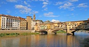 Мост вызвал Ponte Vecchio во Флоренс стоковые фотографии rf