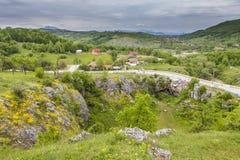 Мост в деревне Ponooare Стоковая Фотография
