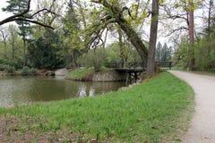 Мост в замке Lednice Стоковые Фото