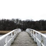 Мост в зиме Стоковые Фото