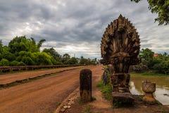 Мост в Камбодже Стоковая Фотография