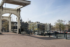 Мост в каналах Амстердам Стоковая Фотография