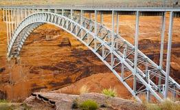 Мост в каньоне Глена Стоковая Фотография