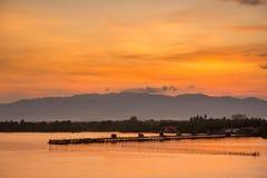 Мост в море Стоковые Фото