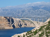 Мост в национальном парке Paklenica Стоковая Фотография