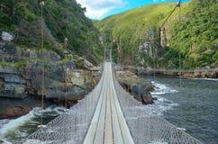 Мост в национальном парке Tsitsikamma Стоковое Фото