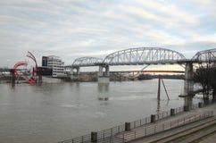 Мост в Нашвилле, Теннесси Стоковая Фотография RF