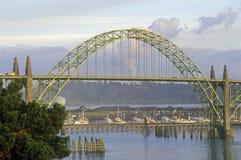 Мост в Ньюпорте, ИЛИ Стоковые Фотографии RF