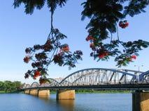 Мост в оттенке, Вьетнам Truong Tien Стоковое фото RF