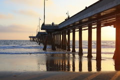 Мост в пляже Стоковые Изображения