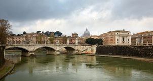 Мост в Риме, Италии Стоковое Изображение