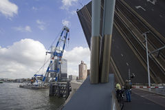 Мост в Роттердаме, Голландии Стоковые Фото