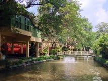 Мост в университете SuanDusit Стоковое фото RF