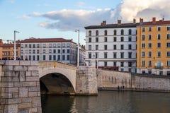 Мост в французском городе Лиона Стоковое фото RF