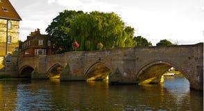 Мост в cambrideshire huntingdon Стоковые Изображения