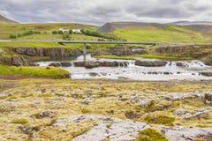 Мост в Ferjukot - Исландии. Стоковые Фото