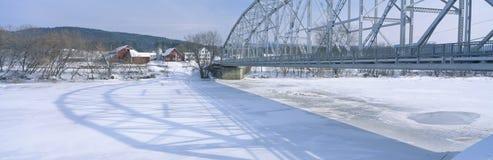 Мост в New Hampshire Стоковые Фото