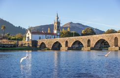 Мост в Ponte de Лиме стоковые фото