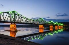 Мост в Wloclawek Стоковое фото RF
