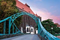 Мост в wroclaw Стоковые Фото
