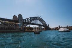 Мост гавани в Сиднее Австралии Стоковые Изображения RF