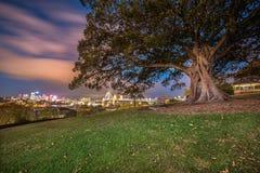 Мост гавани города обсерватории Сиднея Стоковое Изображение RF
