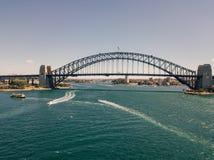 Мост гавани Сиднея с голубым небом Стоковое Фото