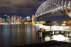 Мост гавани Сидней на ноче Стоковое Изображение