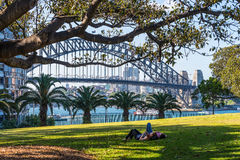 Мост гавани Сидней Стоковая Фотография