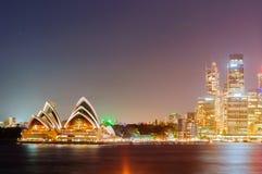 Мост гавани Сиднея, оперный театр Стоковое Изображение