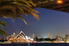 Мост гавани Сиднея, оперный театр Стоковые Фотографии RF