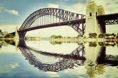 Мост гавани Сиднея Instagram Стоковое Фото