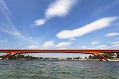 Мост газеля над Рекой Сава - Белградом - Сербией Стоковое Изображение