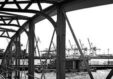 Мост Гамбурга Fischmarkt Стоковое Изображение