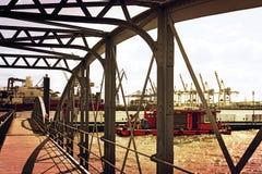 Мост Гамбурга Fischmarkt Стоковые Изображения RF